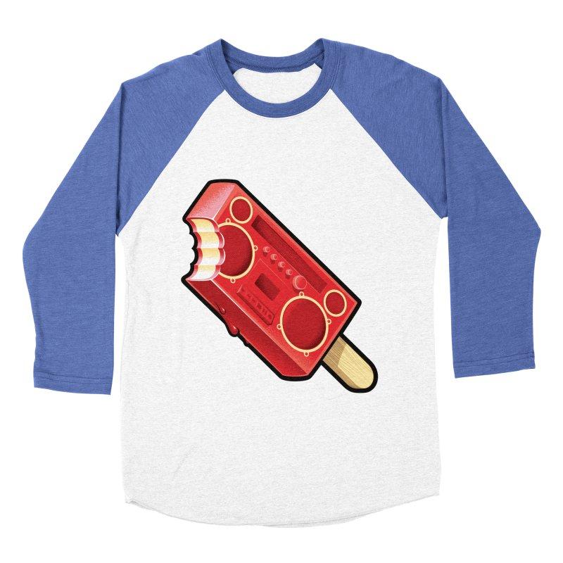 BoomPop Men's Baseball Triblend Longsleeve T-Shirt by Leon's Artist Shop