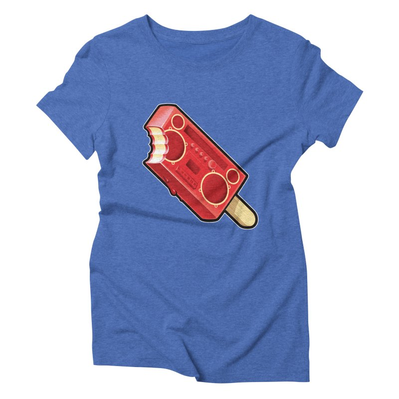 BoomPop Women's Triblend T-Shirt by Leon's Artist Shop