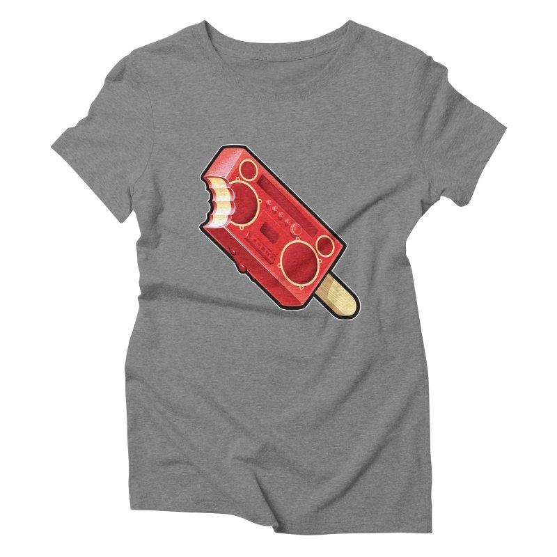BoomPop Women's Triblend T-Shirt by Leon's Artist Shop