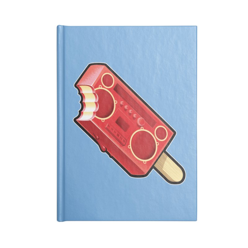 BoomPop Accessories Blank Journal Notebook by Leon's Artist Shop