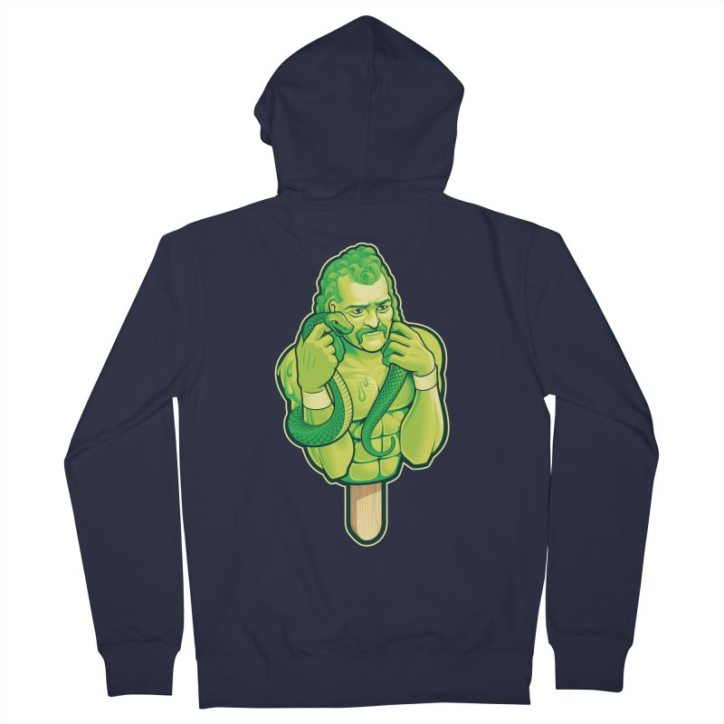 SwampLime Men's French Terry Zip-Up Hoody by Leon's Artist Shop