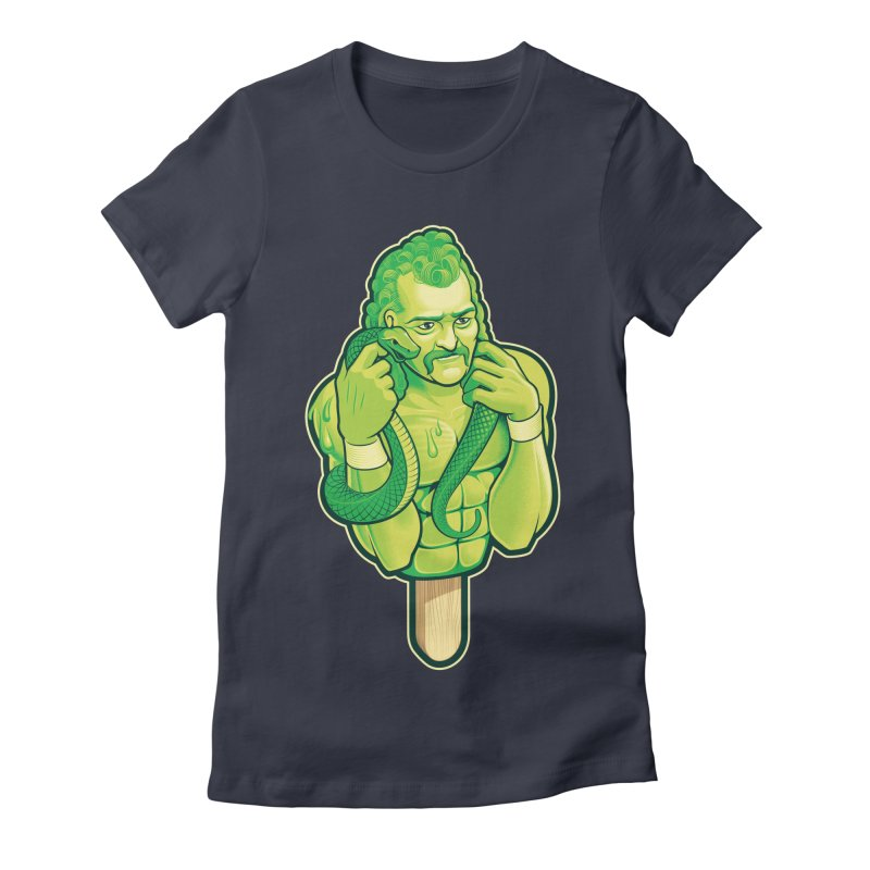 SwampLime Women's Fitted T-Shirt by Leon's Artist Shop