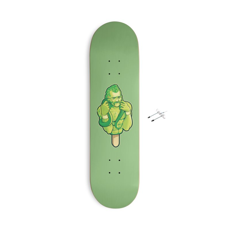 SwampLime Accessories With Hanging Hardware Skateboard by Leon's Artist Shop