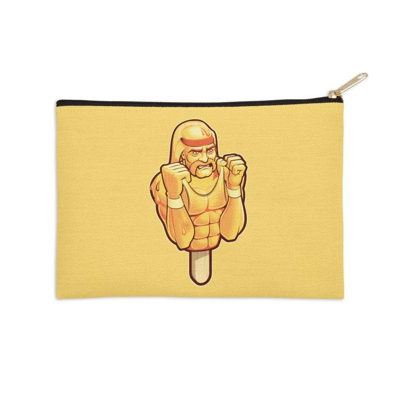 RealAmericanLemon Accessories Zip Pouch by Leon's Artist Shop