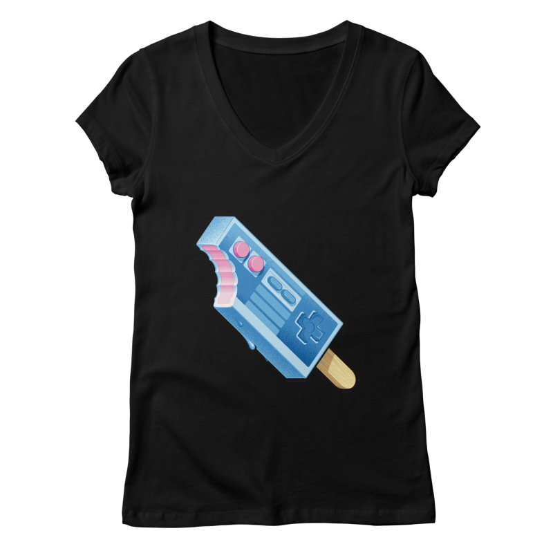 ABUpDown Women's Regular V-Neck by Leon's Artist Shop