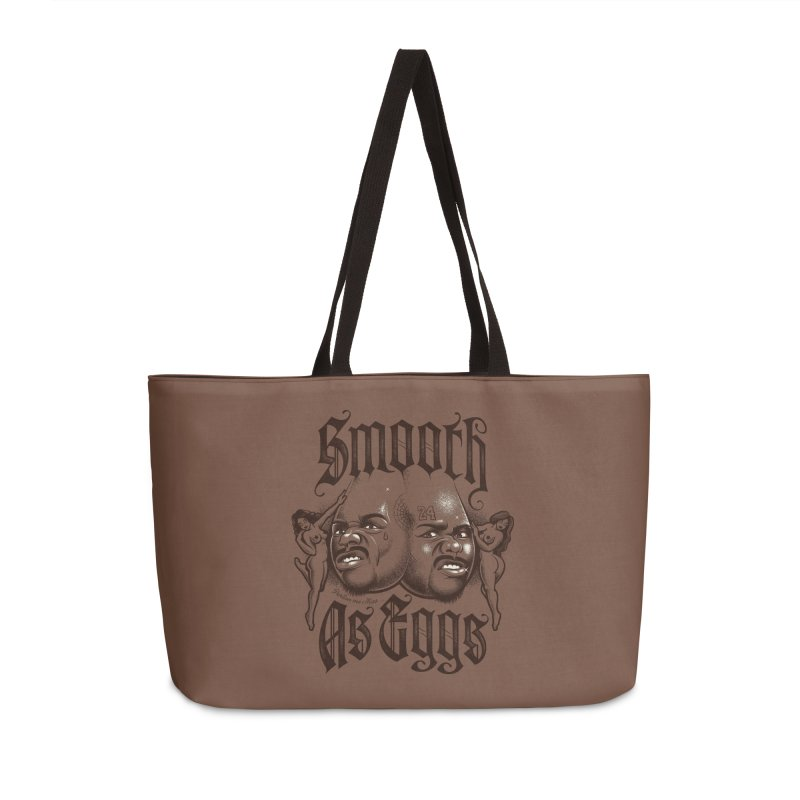 Smooth As Eggs Accessories Weekender Bag Bag by Leon's Artist Shop
