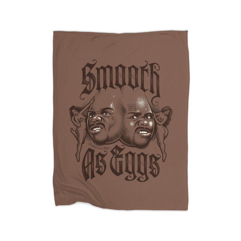 Smooth As Eggs Home Fleece Blanket Blanket by Leon's Artist Shop