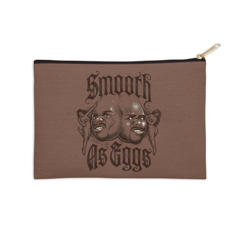 Smooth As Eggs Accessories Zip Pouch by Leon's Artist Shop