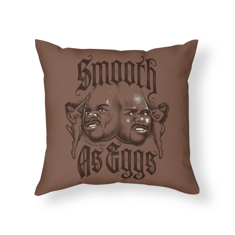 Smooth As Eggs Home Throw Pillow by Leon's Artist Shop