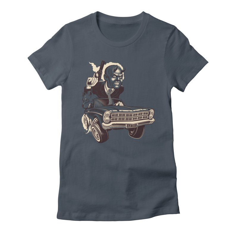 Old Billy Roadrage Women's Fitted T-Shirt by Leon's Artist Shop