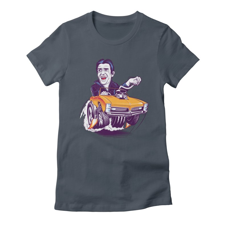 Hammond Women's Fitted T-Shirt by Leon's Artist Shop