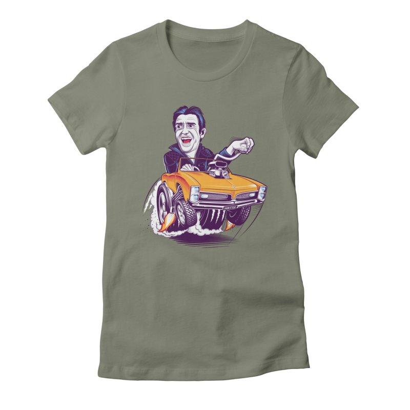 Hammond Women's Fitted T-Shirt by Leon's Artist Shop