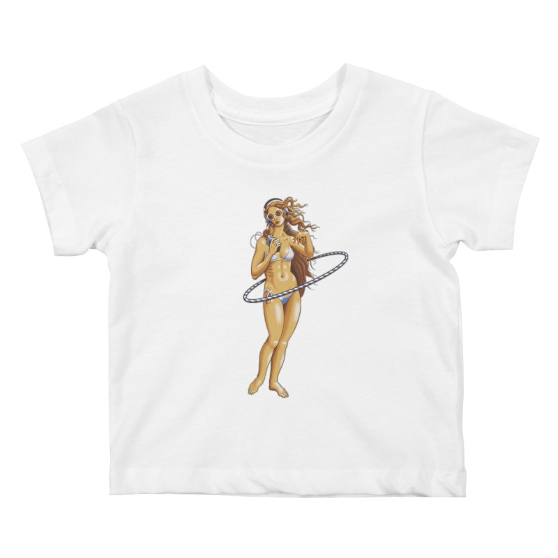 Summer Classic Kids Baby T-Shirt by Leon's Artist Shop