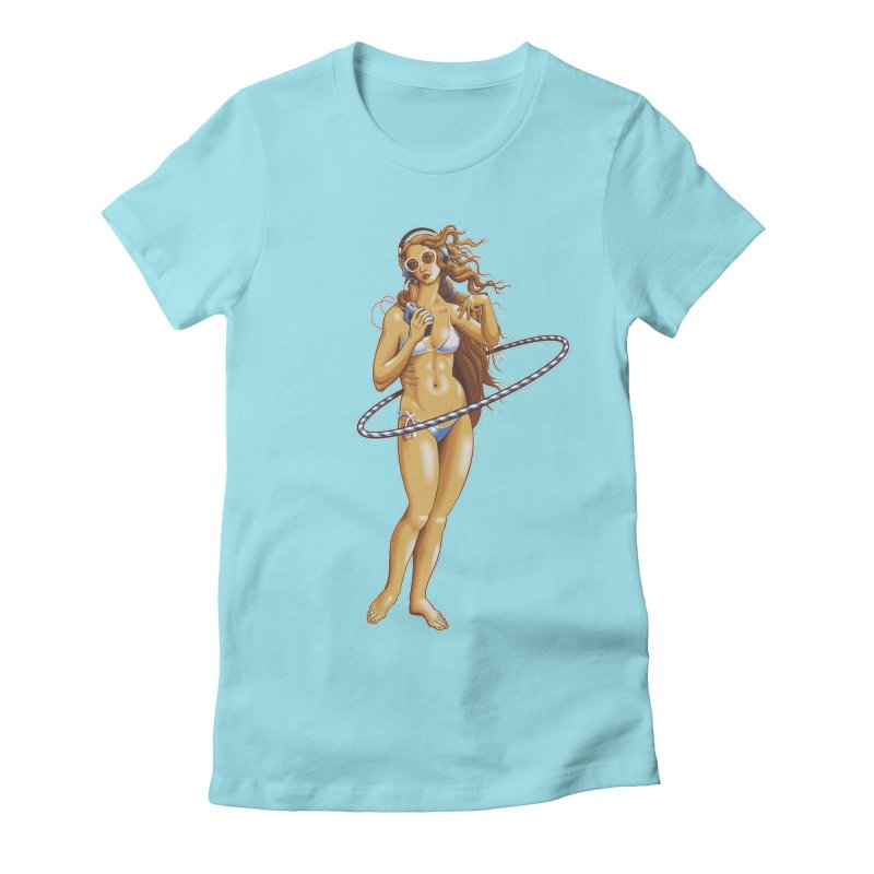 Summer Classic Women's Fitted T-Shirt by Leon's Artist Shop