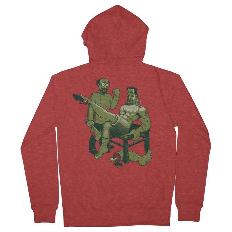 FrankenFine Men's Zip-Up Hoody by Leon's Artist Shop