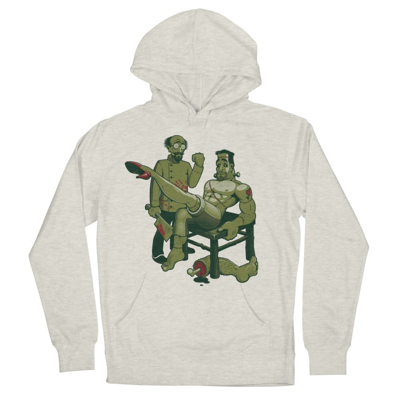 FrankenFine Men's French Terry Pullover Hoody by Leon's Artist Shop