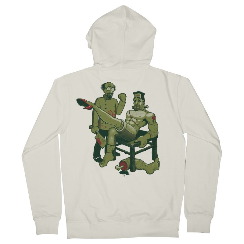 FrankenFine Men's Zip-Up Hoody by Leon's Artist Shop