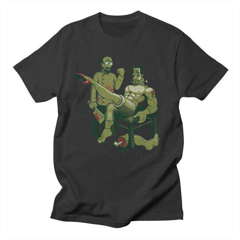 FrankenFine Men's T-shirt by Leon's Artist Shop