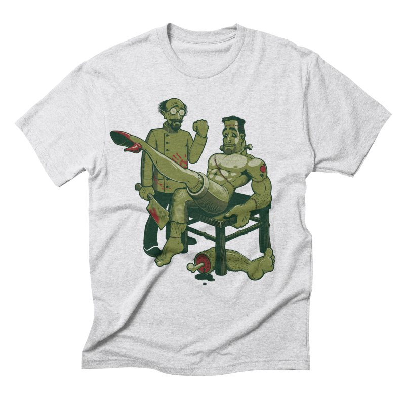 FrankenFine Men's Triblend T-shirt by Leon's Artist Shop