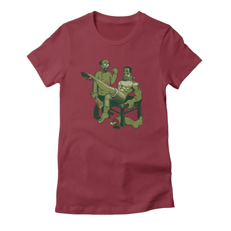 FrankenFine Women's T-Shirt by Leon's Artist Shop