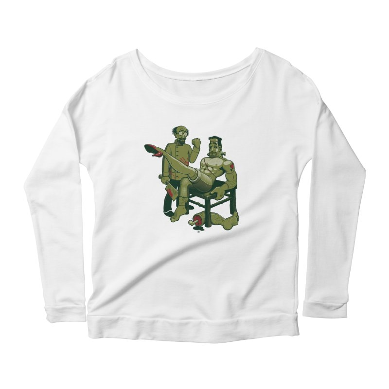FrankenFine Women's Scoop Neck Longsleeve T-Shirt by Leon's Artist Shop
