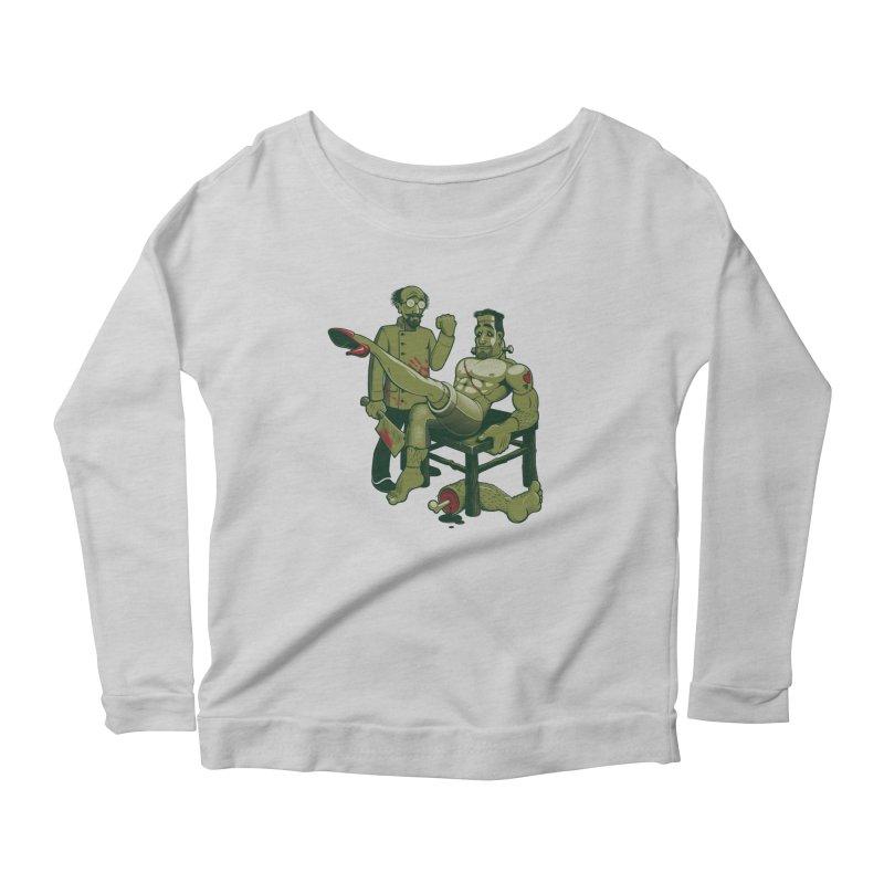 FrankenFine Women's Scoop Neck Longsleeve T-Shirt by Leon's Artist Shop