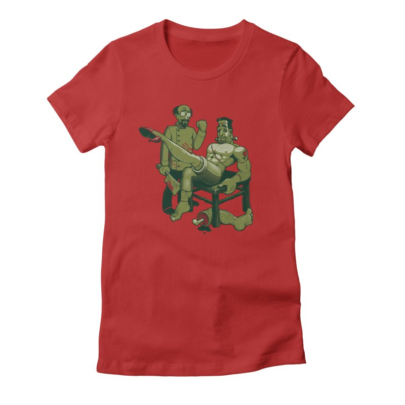 FrankenFine Women's Fitted T-Shirt by Leon's Artist Shop