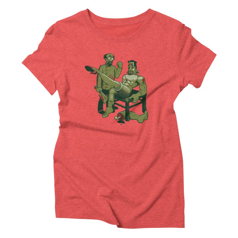 FrankenFine Women's Triblend T-Shirt by Leon's Artist Shop