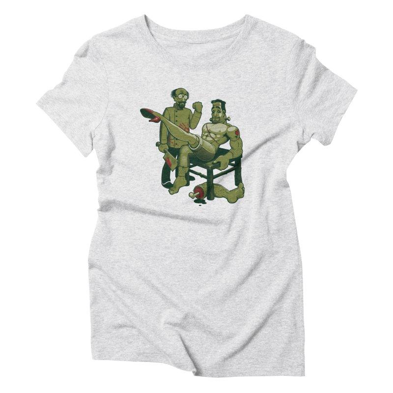 FrankenFine Women's Triblend T-Shirt by Leon's Artist Shop
