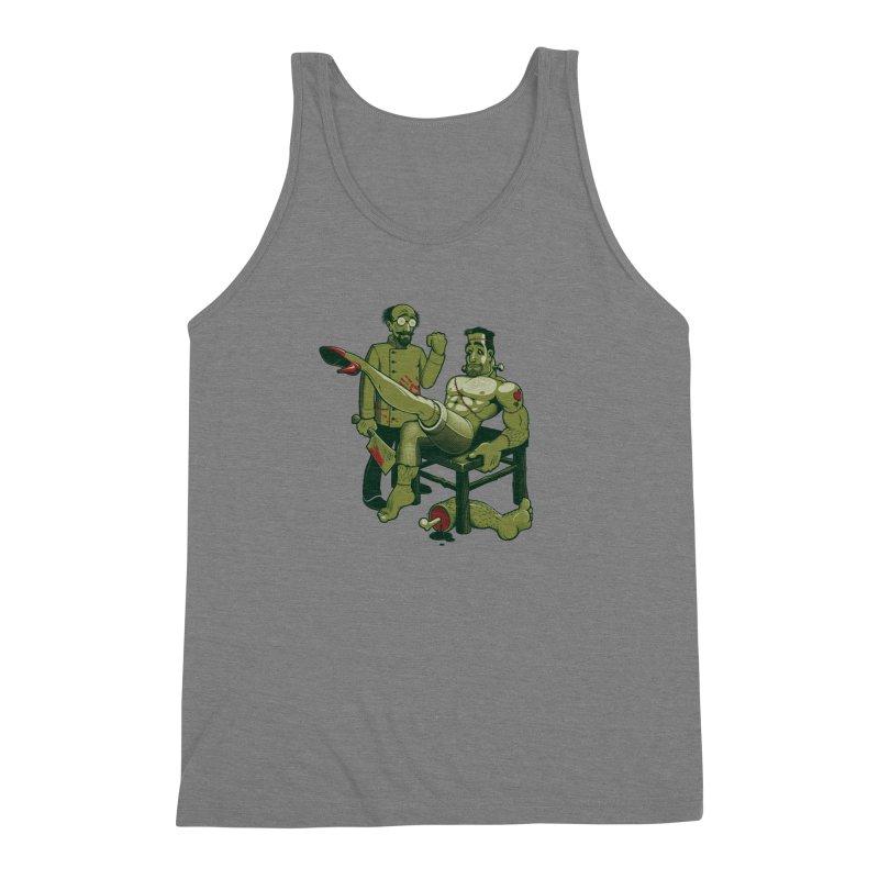 FrankenFine Men's Triblend Tank by Leon's Artist Shop
