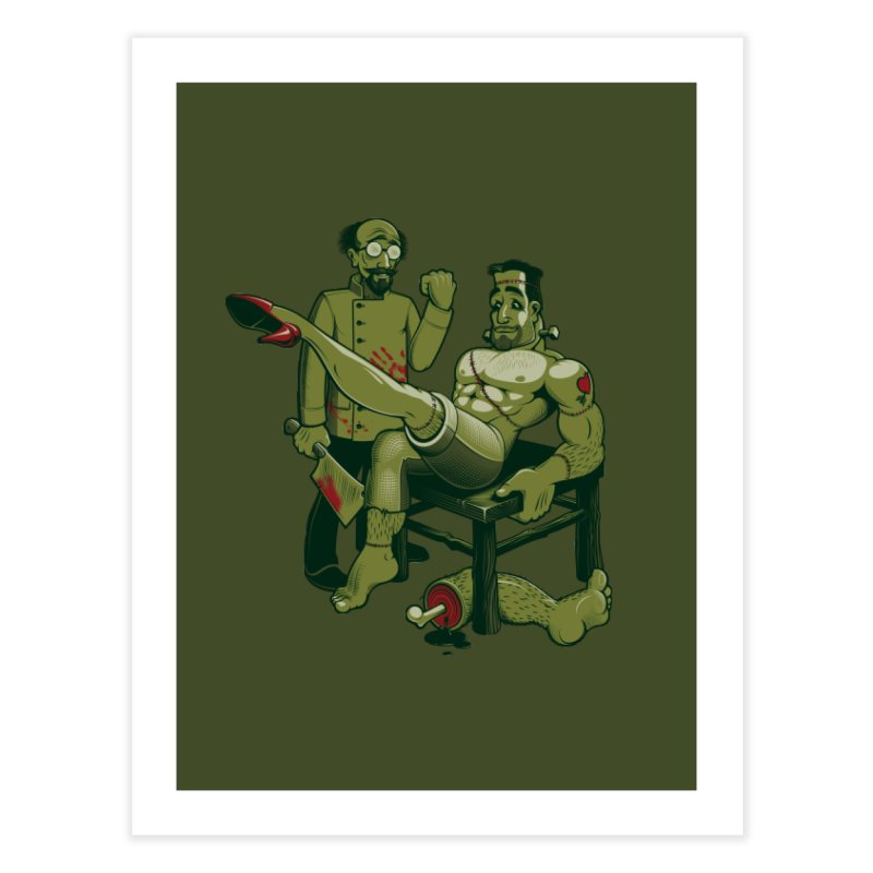 FrankenFine Home Fine Art Print by Leon's Artist Shop