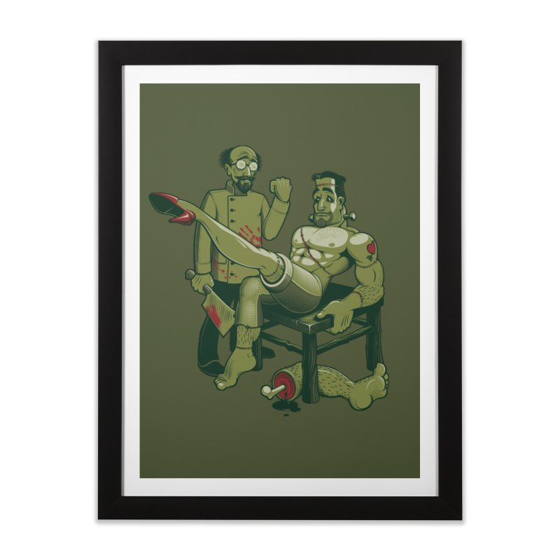 FrankenFine Home Framed Fine Art Print by Leon's Artist Shop