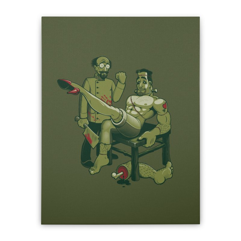 FrankenFine Home Stretched Canvas by Leon's Artist Shop