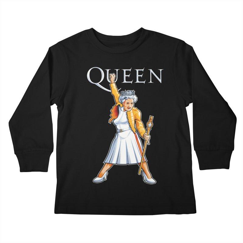 It's a Kind of Monarch Kids Longsleeve T-Shirt by Leon's Artist Shop