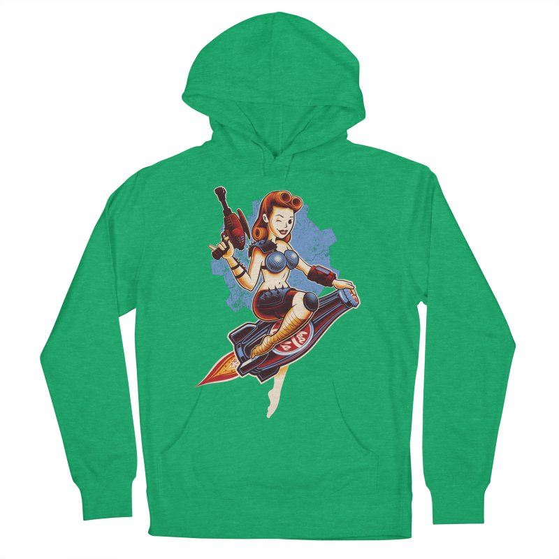 Atom Bomb Baby Men's French Terry Pullover Hoody by Leon's Artist Shop