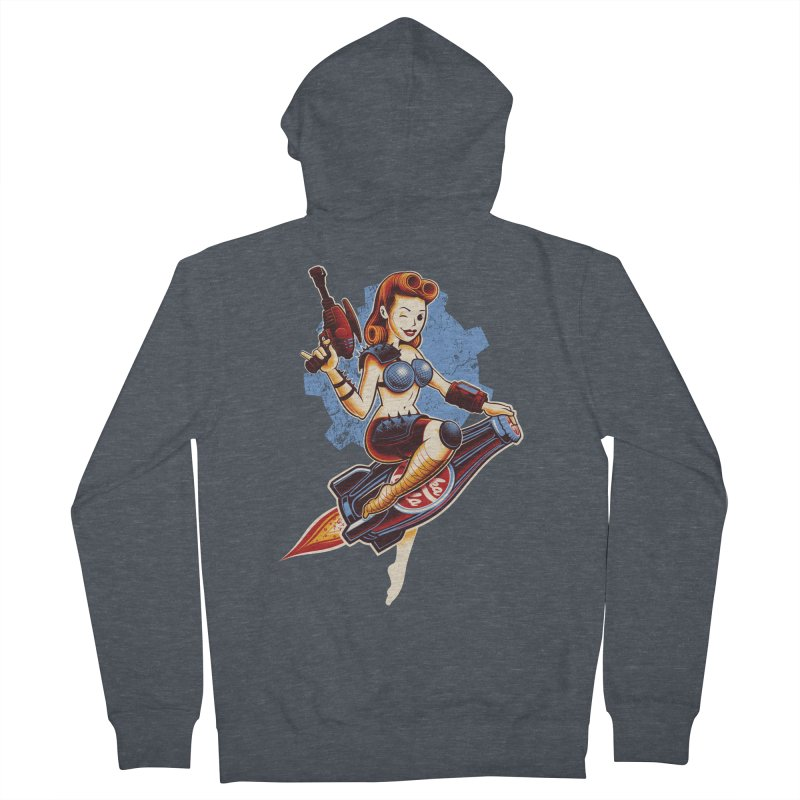 Atom Bomb Baby Women's French Terry Zip-Up Hoody by Leon's Artist Shop