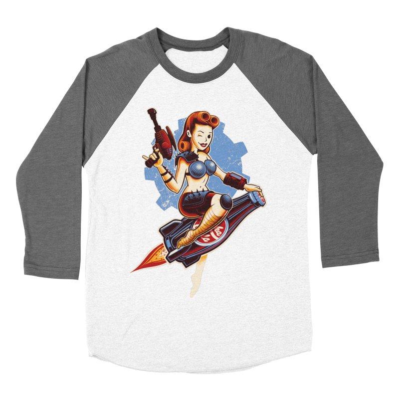 Atom Bomb Baby Women's Baseball Triblend Longsleeve T-Shirt by Leon's Artist Shop