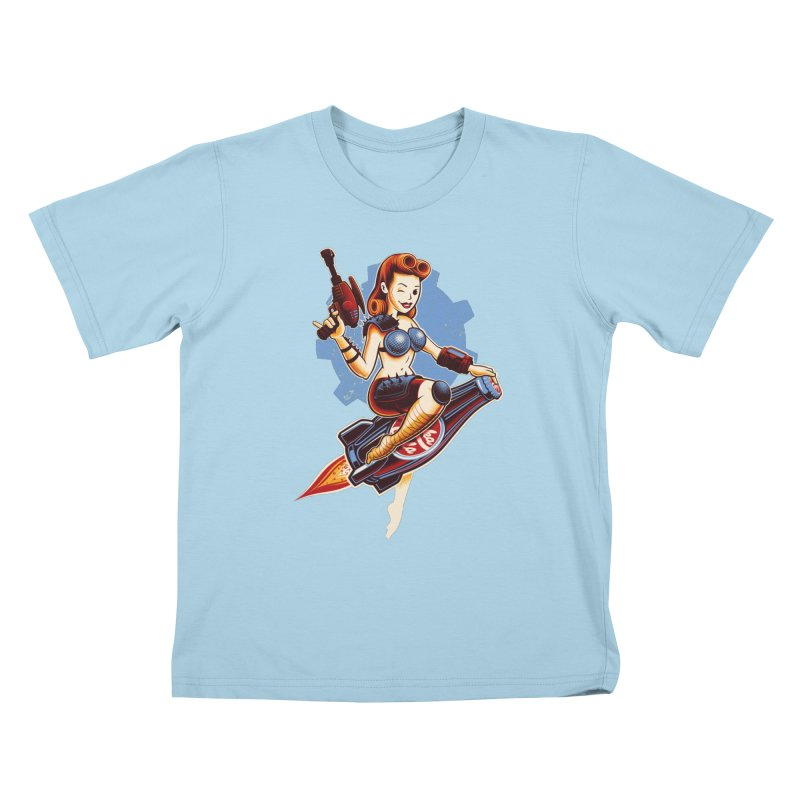 Atom Bomb Baby Kids T-Shirt by Leon's Artist Shop