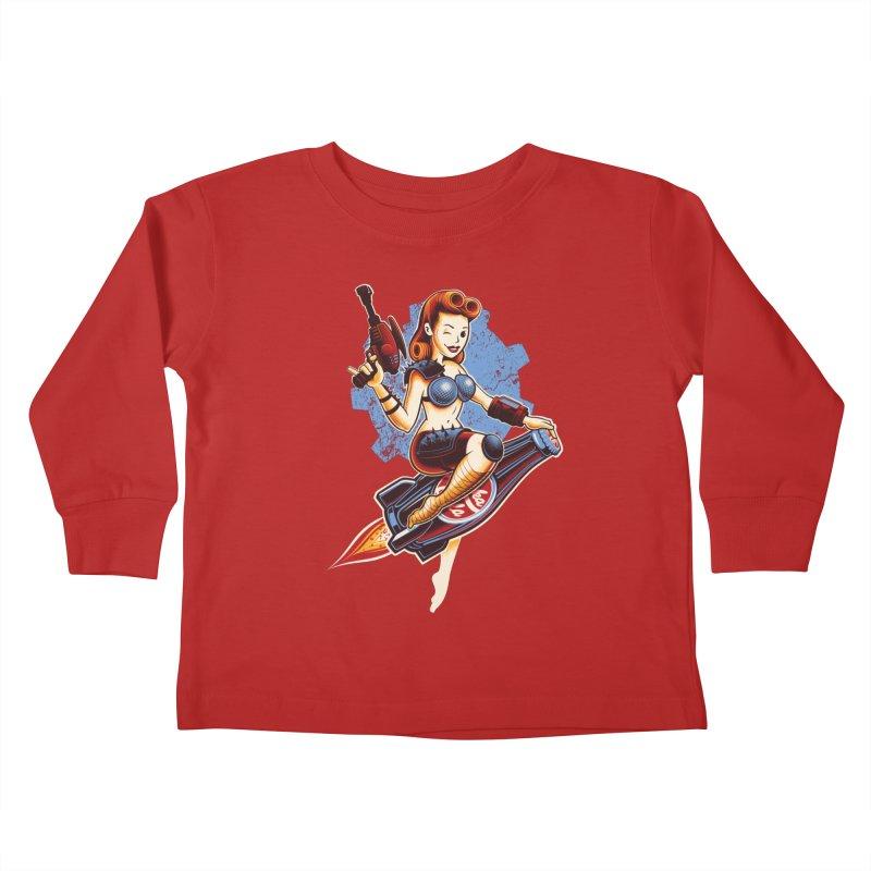 Atom Bomb Baby Kids Toddler Longsleeve T-Shirt by Leon's Artist Shop