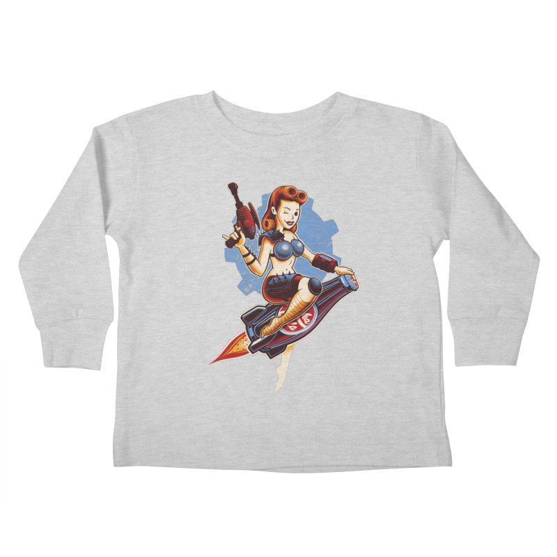 Atom Bomb Baby Kids Toddler Longsleeve T-Shirt by Leon's Artist Shop