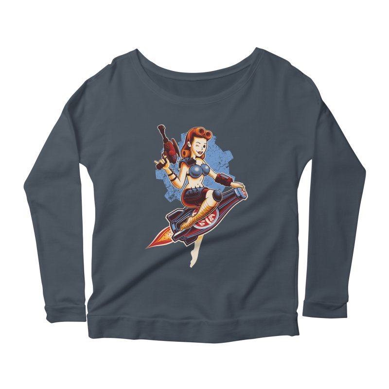 Atom Bomb Baby Women's Scoop Neck Longsleeve T-Shirt by Leon's Artist Shop