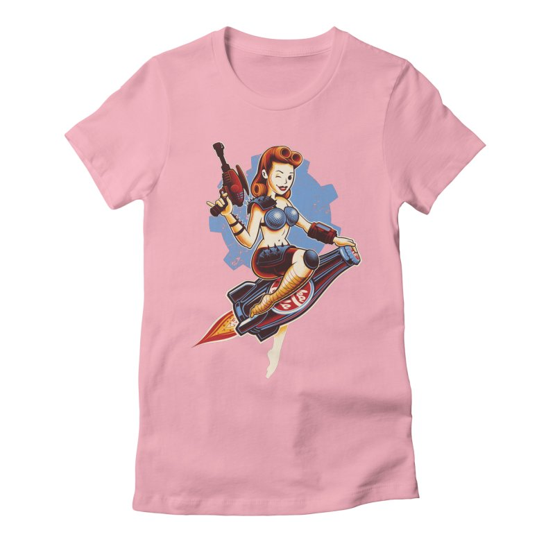 Atom Bomb Baby Women's Fitted T-Shirt by Leon's Artist Shop