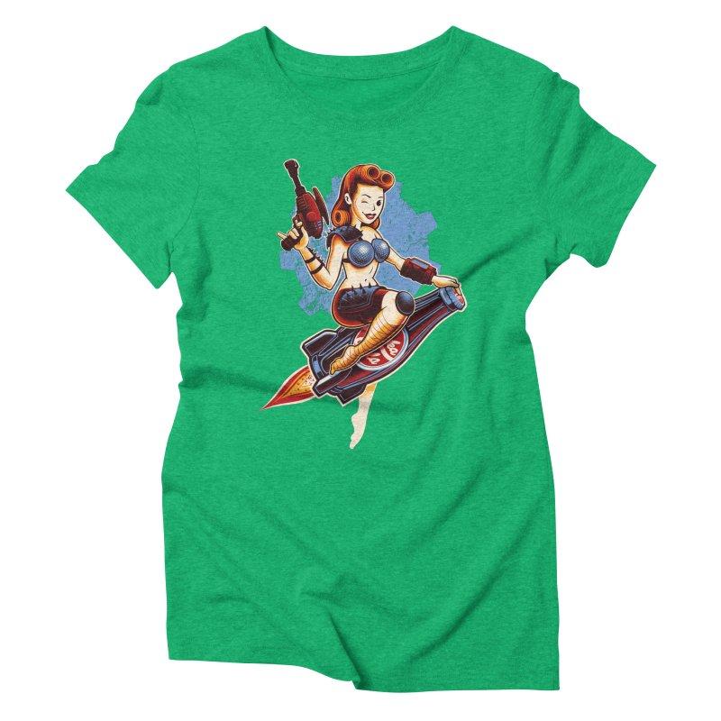 Atom Bomb Baby Women's Triblend T-Shirt by Leon's Artist Shop