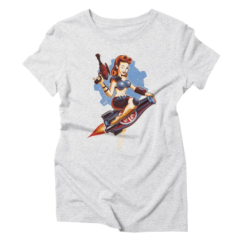 Atom Bomb Baby Women's Triblend T-Shirt by Leon's Artist Shop