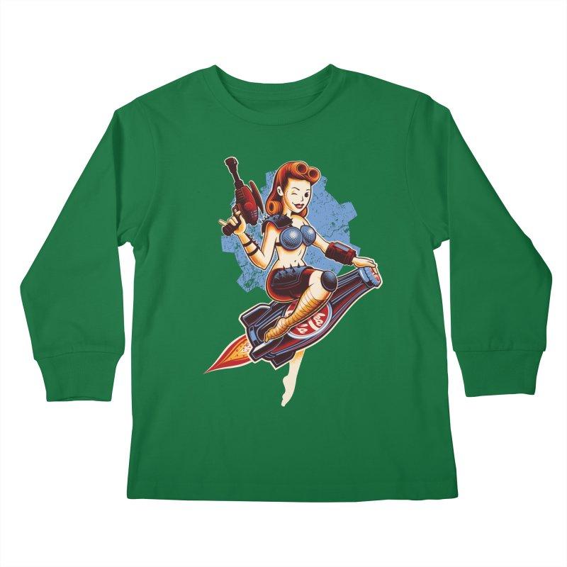 Atom Bomb Baby Kids Longsleeve T-Shirt by Leon's Artist Shop