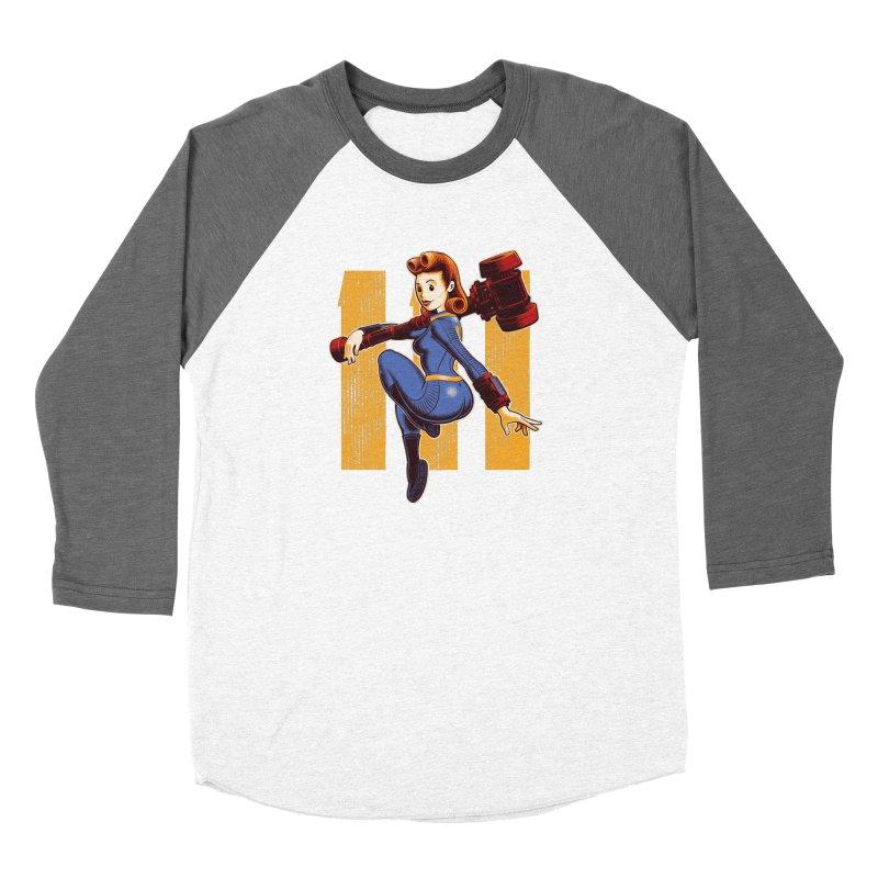 Vault Girl Women's Longsleeve T-Shirt by Leon's Artist Shop