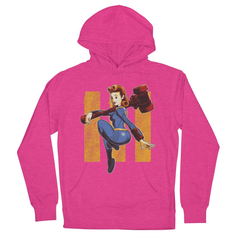 Vault Girl Women's French Terry Pullover Hoody by Leon's Artist Shop