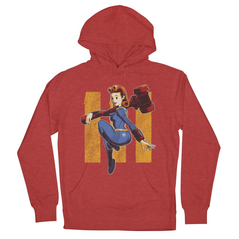 Vault Girl Men's French Terry Pullover Hoody by Leon's Artist Shop