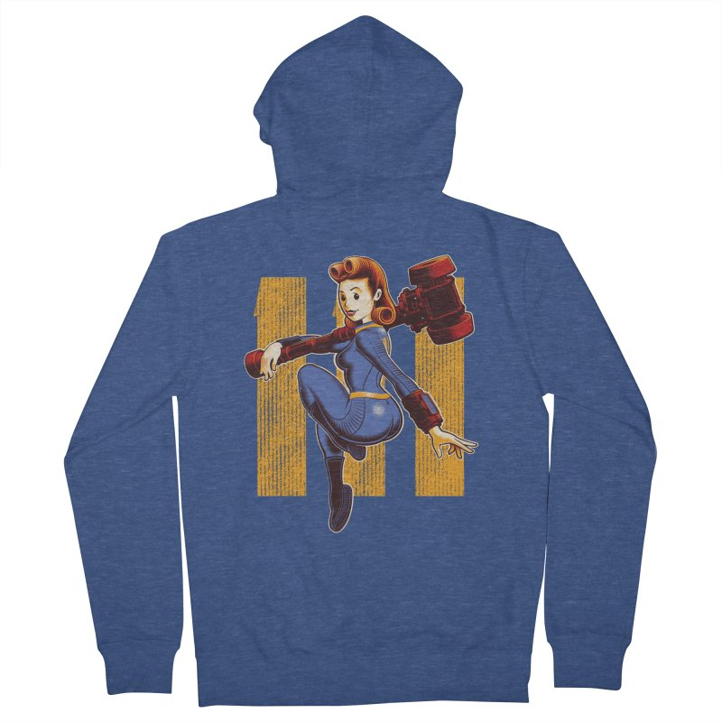 Vault Girl Men's Zip-Up Hoody by Leon's Artist Shop
