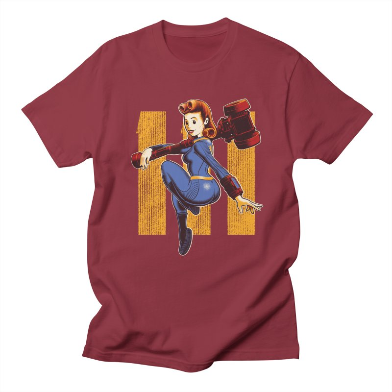 Vault Girl Men's T-shirt by Leon's Artist Shop